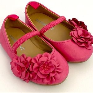 Baby Girl Pink Flower Dress Flats